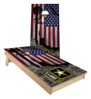 Army Vietnam Veteran US Flag cornhole boards