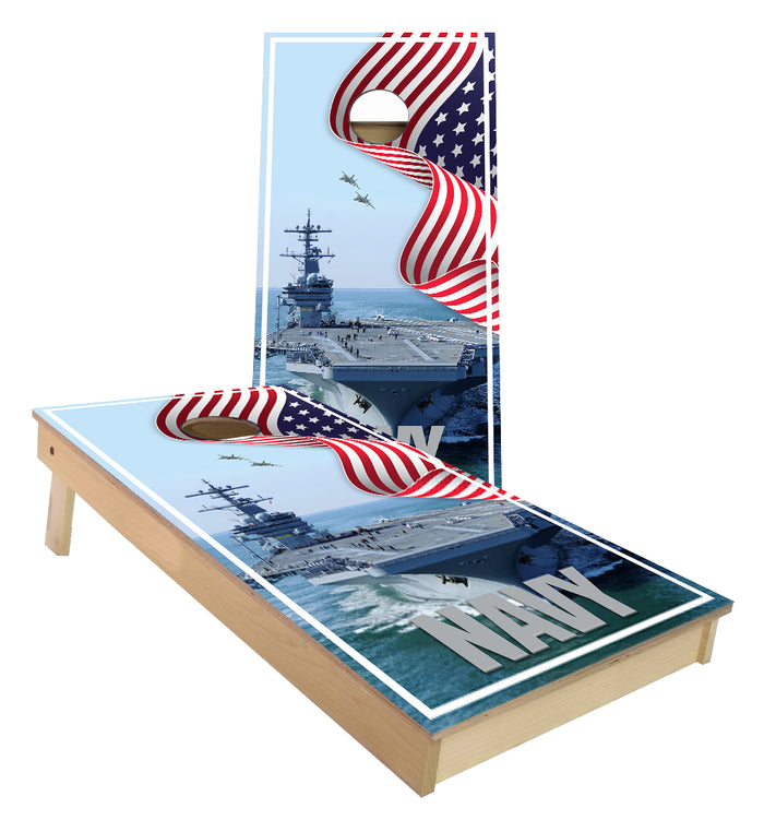 US NAVY Aircraft Carrier Cornhole Boards