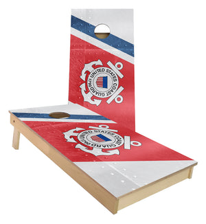 United States Coast Guard Flag Cornhole Boards