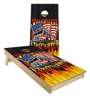 Volunteer Fire Fighter  Cornhole Boards