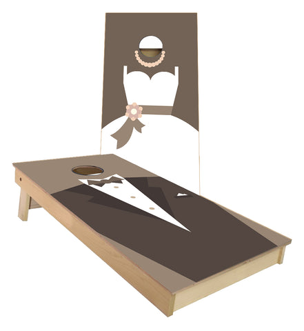 Wedding Suit and Dress cornhole boards