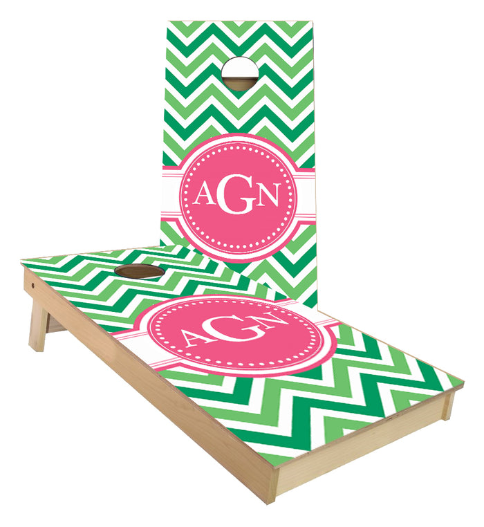 Wedding Monogram design cornhole boards