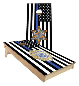 Wayne County Sheriff and Police Cornhole Boards