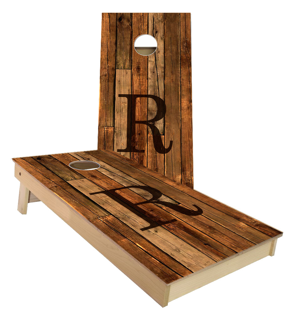 Custom Wedding Guest Book R cornhole boards