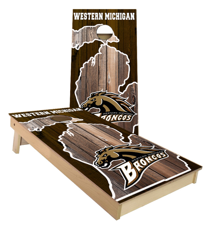 Western Michigan Broncos Cornhole Boards