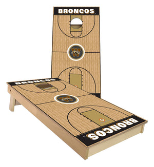Western Michigan Broncos Basketball court Cornhole Boards