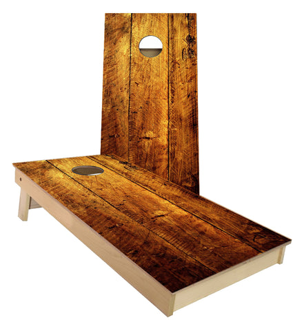 Orange Crushed Wide Plank Cornhole Boards