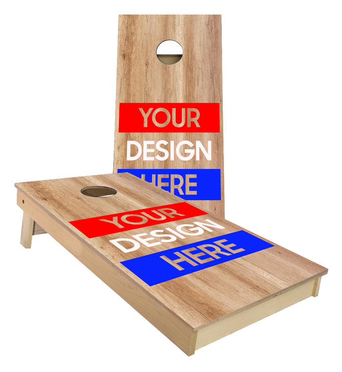 Custom designed cornhole boards We use your design or we can custom design for you