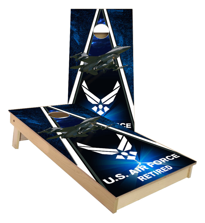 US Airforce Retired F-16 Falcon cornhole boards