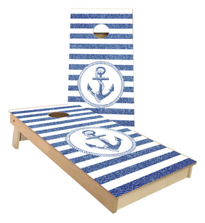 Anchor with Rope boarder Cornhole boards