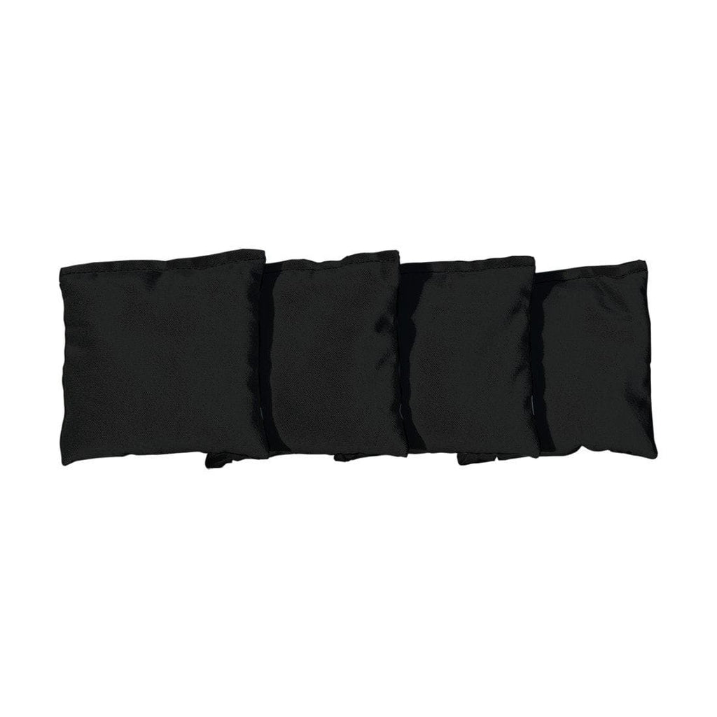 Corn Filled cornhole bags set of 4 - Black