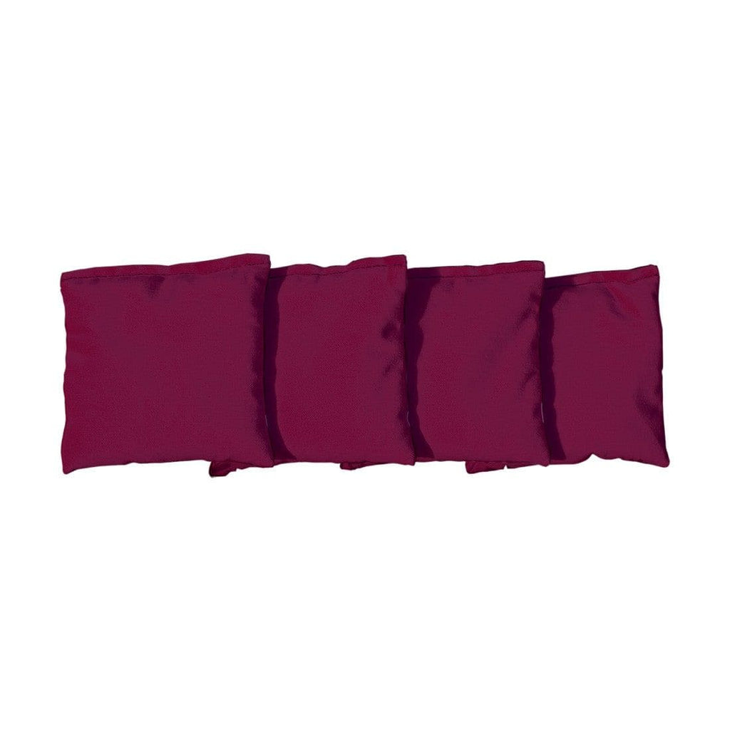 Corn Filled cornhole bags set of 4 - Burgundy