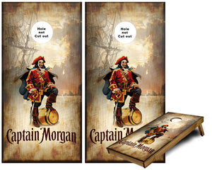 Captain Morgan pirate ship Cornhole Wraps