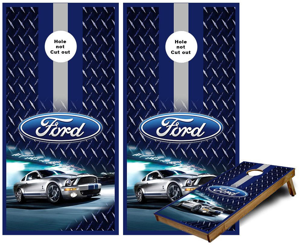 Ford Mustang Cornhole Wraps
