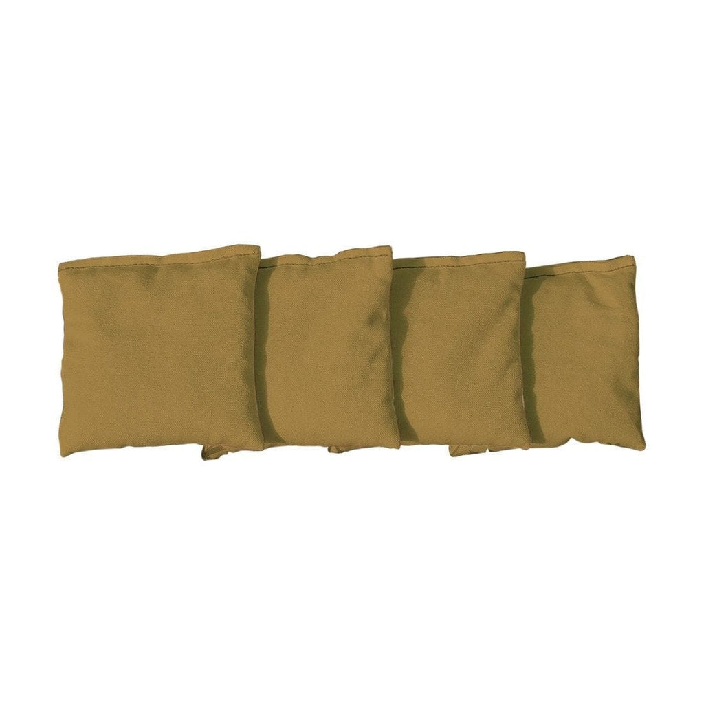 Corn Filled cornhole bags set of 4 - Gold