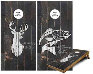 Hunting and fishing in memory of Cornhole Wraps
