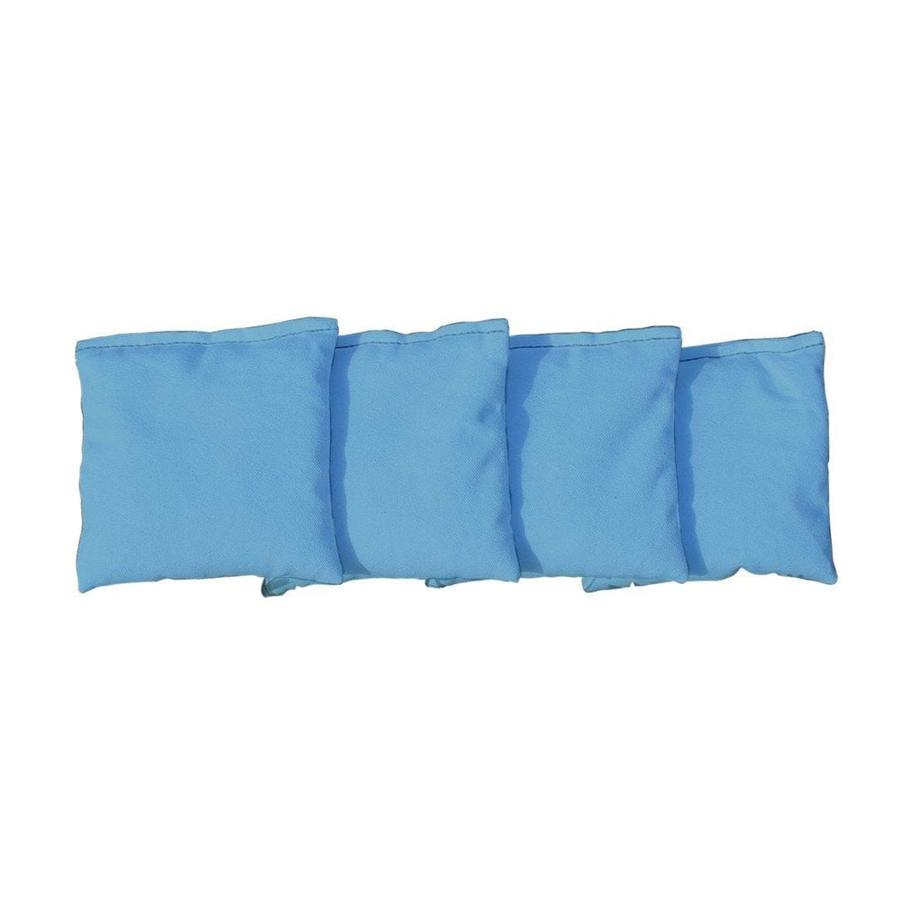Corn Filled cornhole bags set of 4 - Light Blue