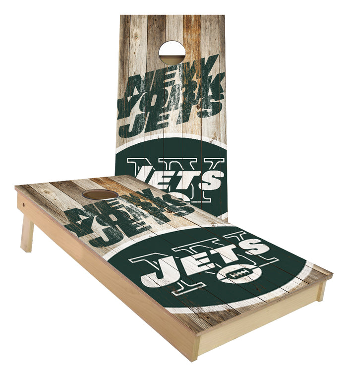 New York Jets Football cornhole boards