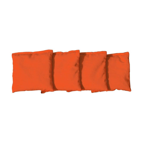 Corn Filled cornhole bags set of 4 - Orange