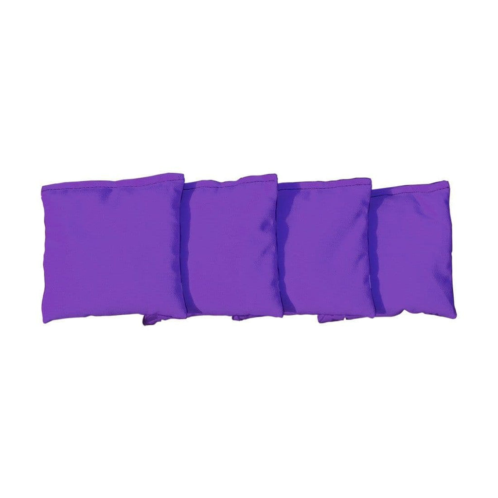 Corn Filled cornhole bags set of 4 - Purple