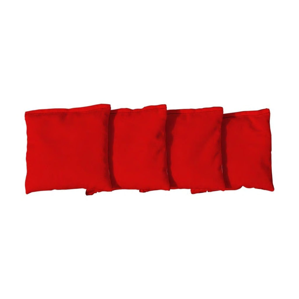 Corn Filled cornhole bags set of 4 - Red