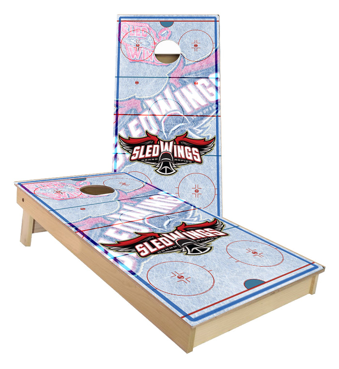 Grand Rapids Sled Wings Hockey Rink Cornhole Boards