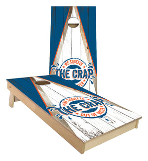Squeeze the Crap out of Water custom Cornhole Boards