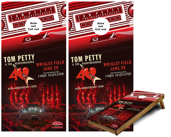 Tom Petty and the Heartbreakers Chicago Concert Cornhole Wraps