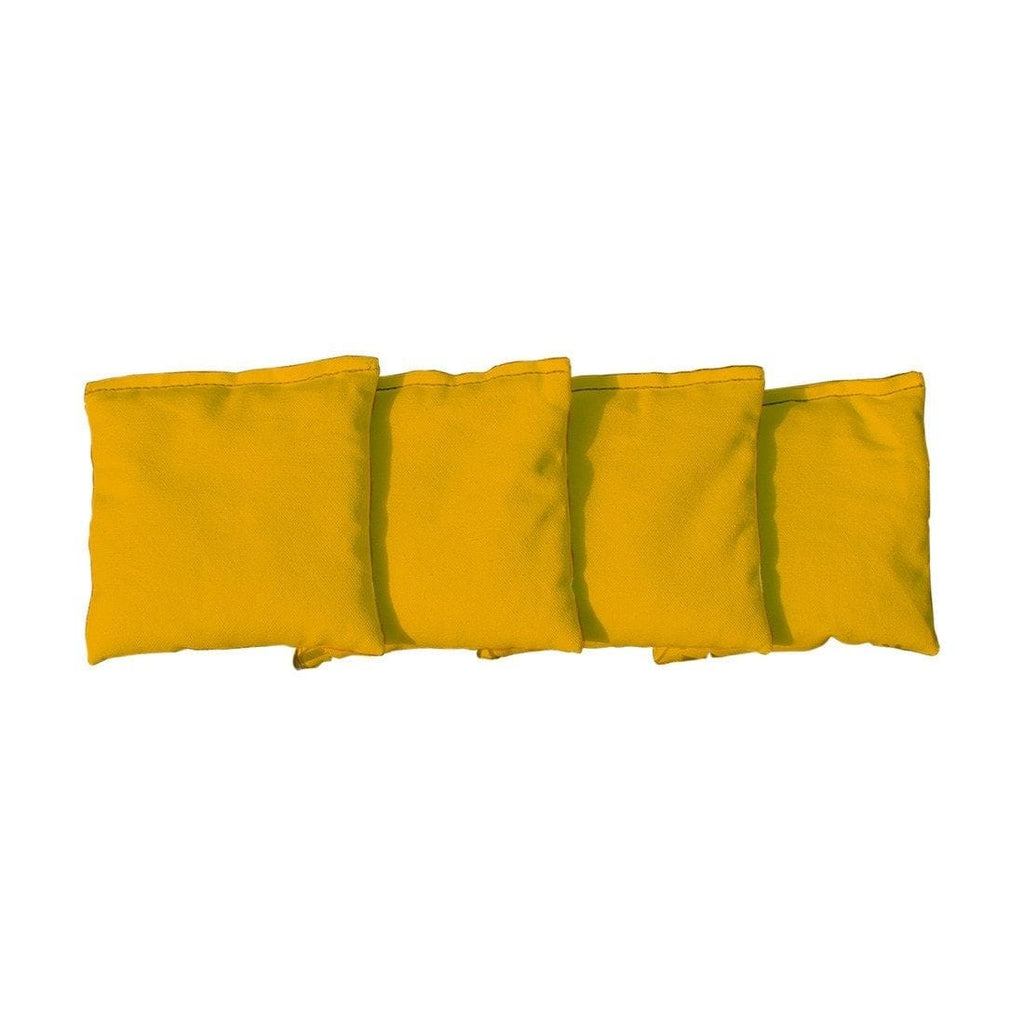 Corn Filled cornhole bags set of 4 - Yellow
