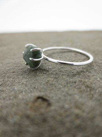 Raw Sapphire + Sterling Silver Ring