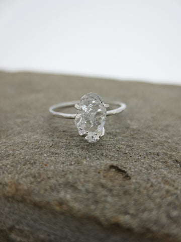 Bare Herkimer Diamond Ring