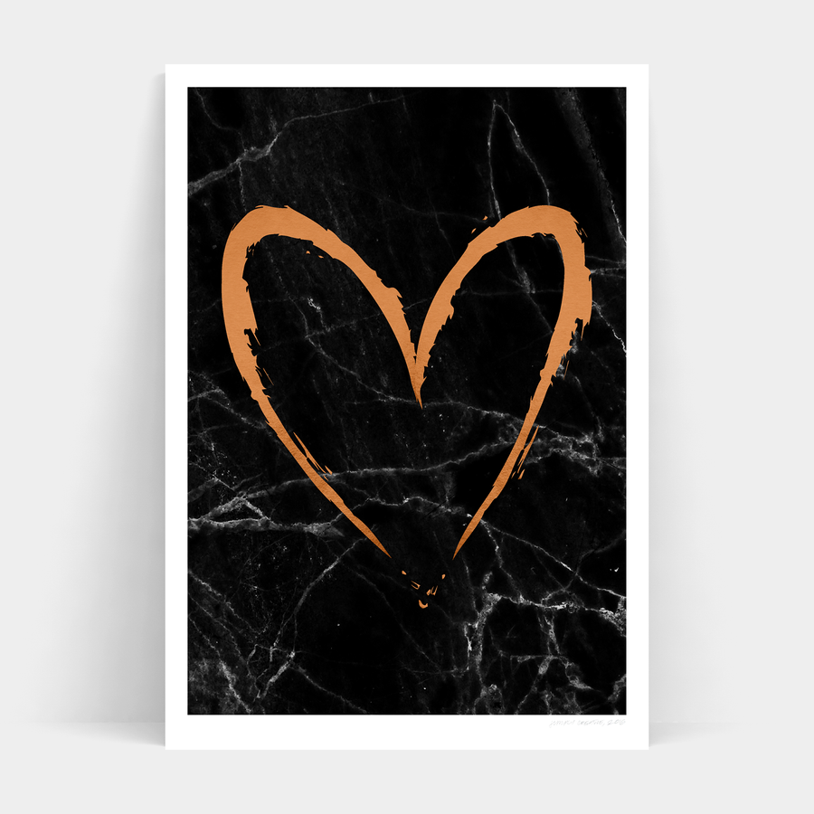DARK COPPER HEART