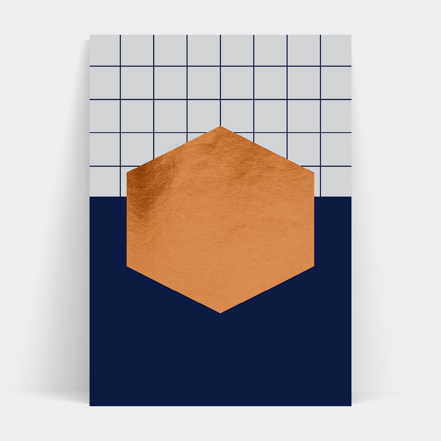 NAVY HEXAGON