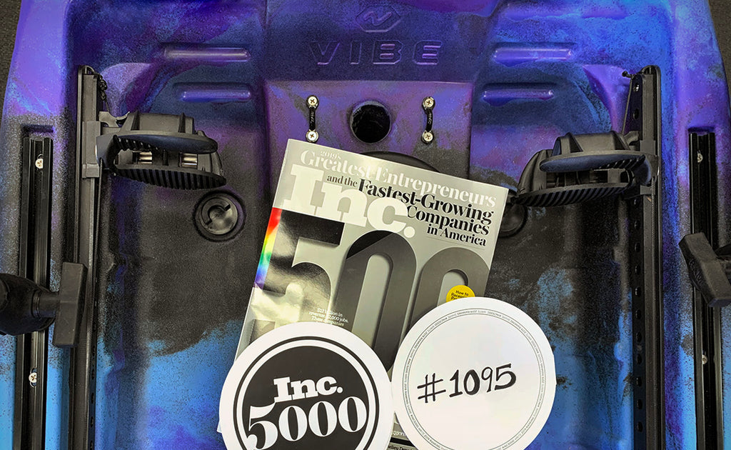 Vibe Kayaks makes the Inc. 5000 list for the 2nd consecutive year, coming in at 1095 on the list.
