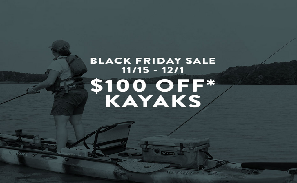 The Vibe Shop Black Friday Holiday Sale. Save on kayaks and kayak accessories.