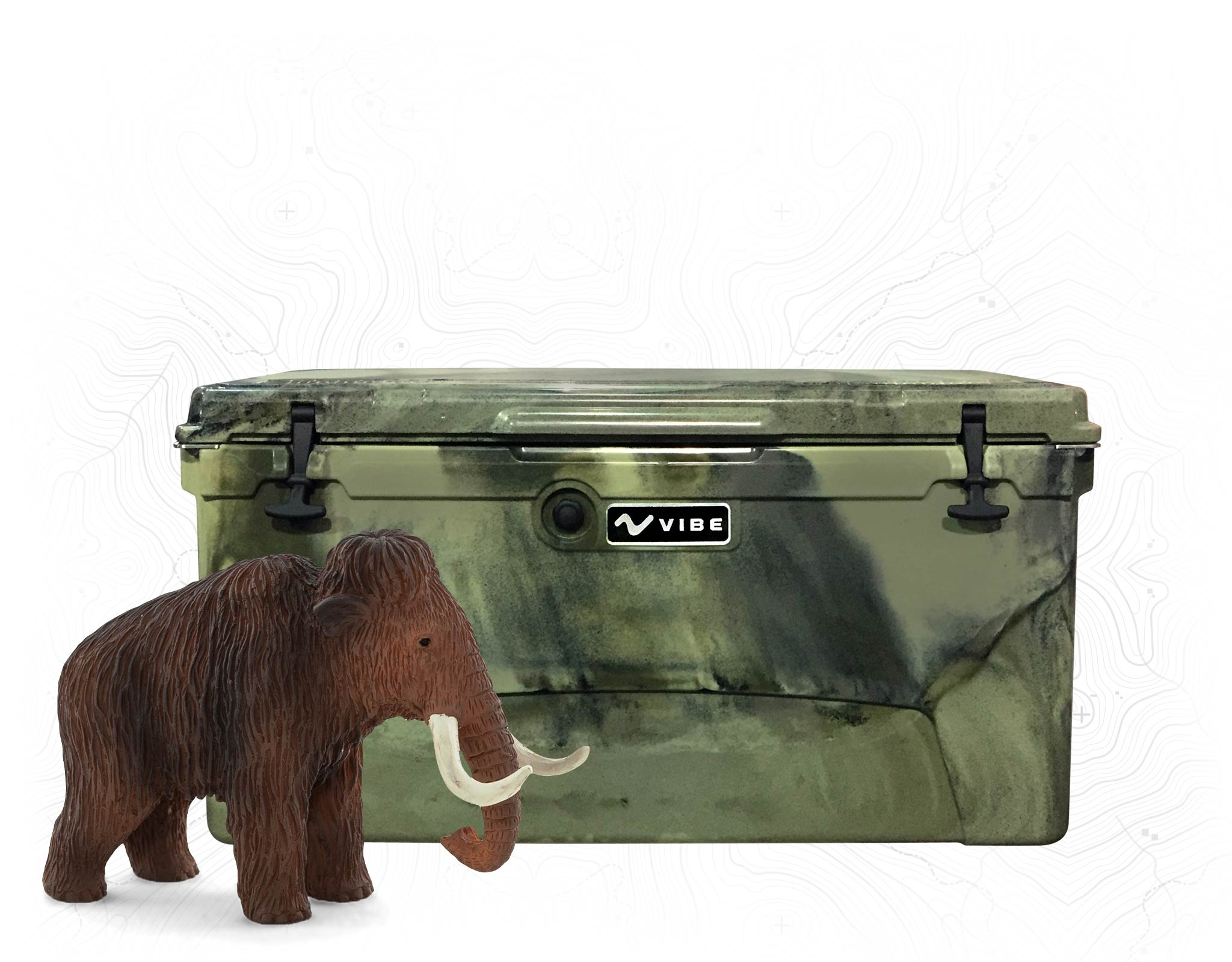 Vibe Element 110 quart rotomolded cooler is wooly mammoth proof