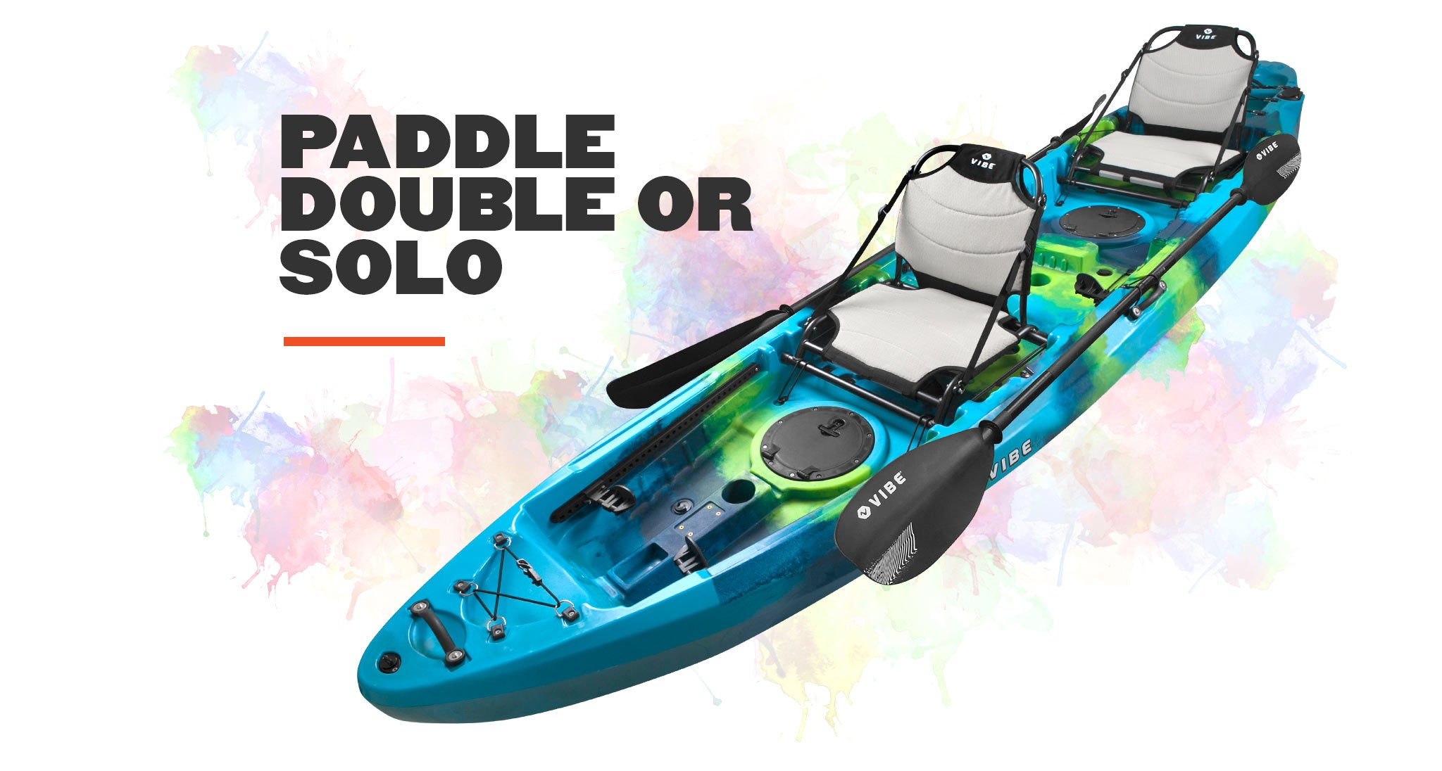 Vibe 130T Tandem Two Person Sit On Top Kayak