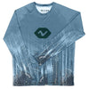 Vibe Performance Long Sleeve Shirt - Caribbean Blue Vibes