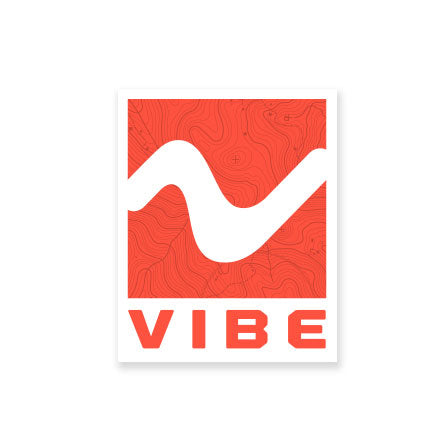 Vibe Red V Wave Sticker