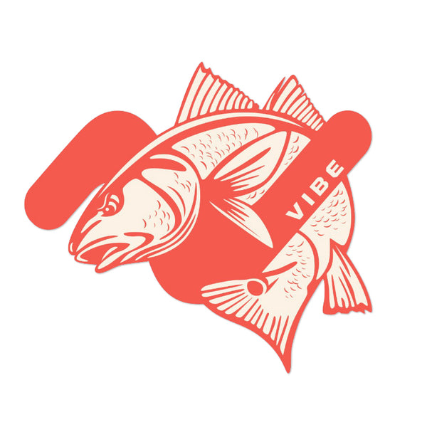 Vibe Redfish Vibe Sticker