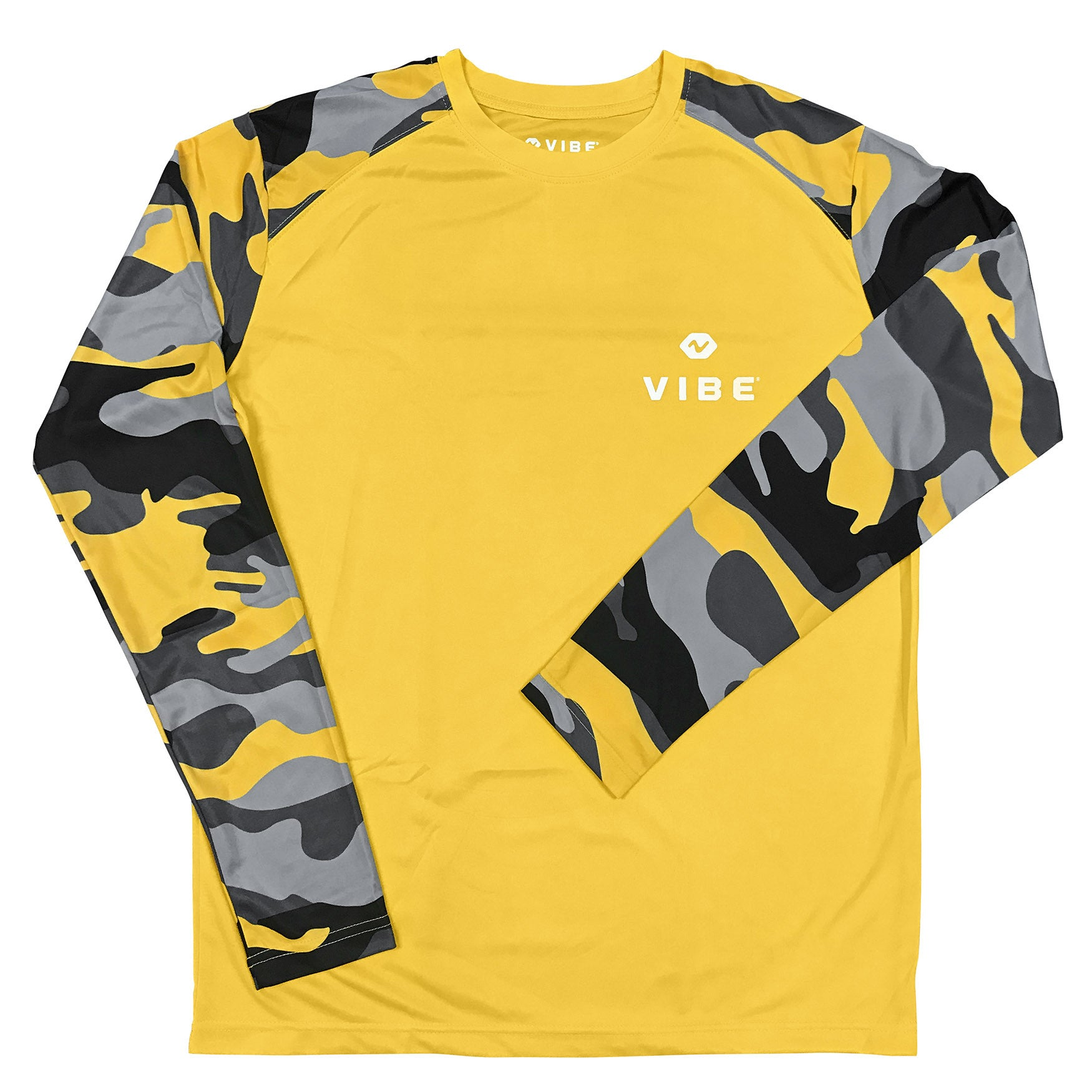 Vibe Performance Long Sleeve Shirt - Yellow Groove