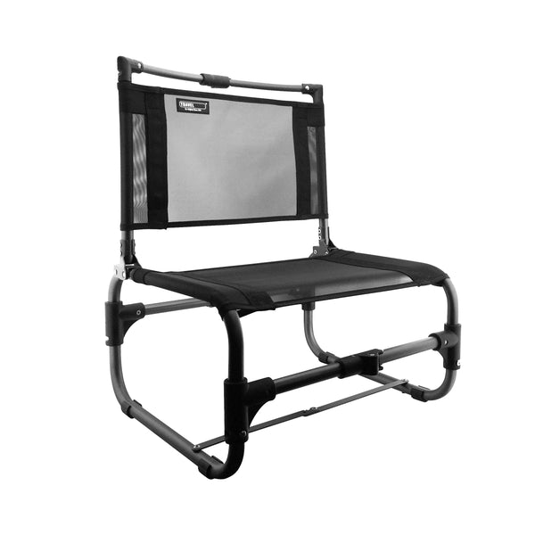 Larry Chair Folding Outdoor Chair - Aluminum - Black