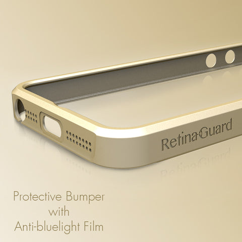 Protective Bumper with Anti-Blue Light Screen Protector