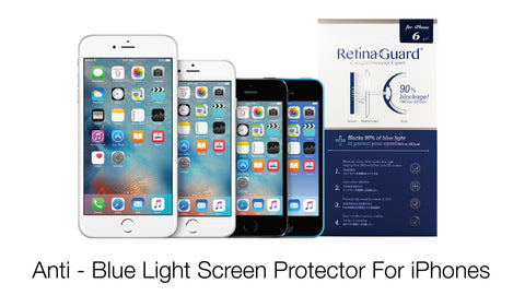 Anti - Blue Light Screen Protector For iPhones