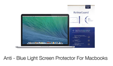 Anti - Blue Light Screen Protector For Macbooks