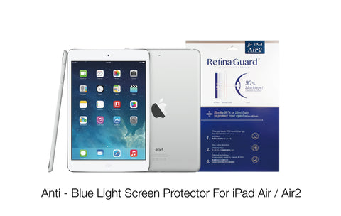 Anti - Blue Light Screen Protector For iPad Air / Air2