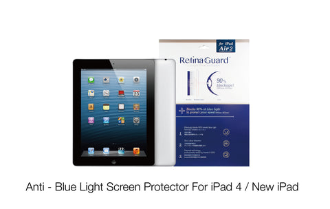 Anti - Blue Light Screen Protector For iPad 4 / New iPad