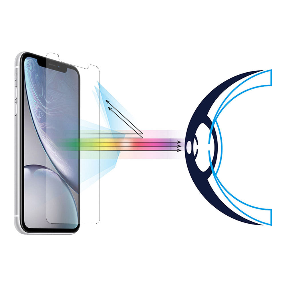 Anti Blue Light Tempered Glass Screen Protector For Iphone X
