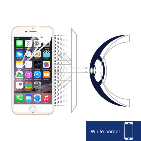 Anti-Blue light Screen Protector (White border) - iPhone 6S Plus / 6 Plus - RetinaGuard Store - Anti-Blue Light Screen Protectors for iPhone 7, 7 Plus, 6s, 6s Plus, iPads and Macbooks