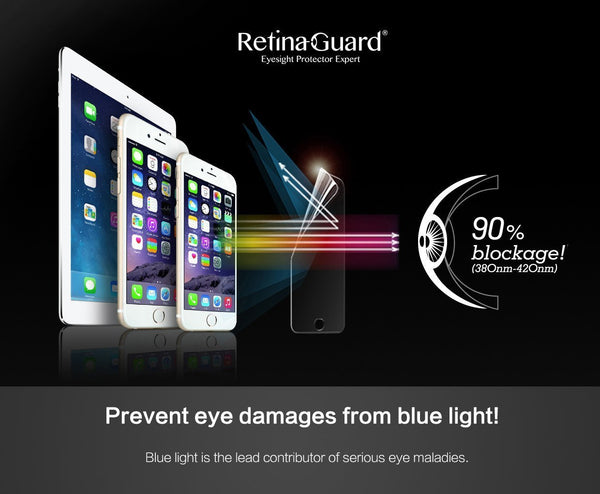 Anti-Blue light Screen Protector (Black border) - iPhone 6S Plus / 6 Plus - RetinaGuard Store - Anti-Blue Light Screen Protectors for iPhone 7, 7 Plus, 6s, 6s Plus, iPads and Macbooks